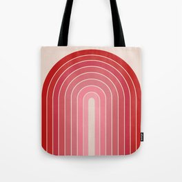Gradient Arch - Pink / Red Tones Tote Bag