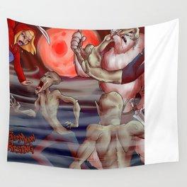 Bad Moon Rising-Blood Moon Wall Tapestry