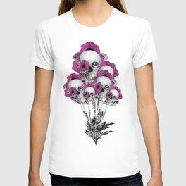 Evolution of poppies, skull pattern.  T-shirt