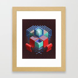 Abstract Cube 01 Framed Art Print