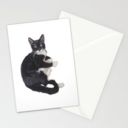 Needle felted Tuxedo cat Stationery Cards