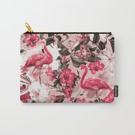 Floral and Flemingo III Pattern Carry-All Pouch