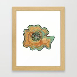 Tree Stump Series 3 - Illustration Framed Art Print