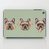 evil iPad Cases featuring No Evil  Frenchie by Huebucket