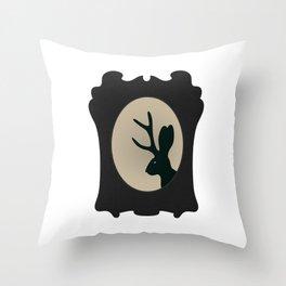 JACKALOPE SILHOUETTE Throw Pillow