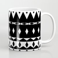 aztec Mugs featuring Aztec by Ornaart