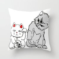 kittens Throw Pillows featuring Kittens by Larice Barbosa