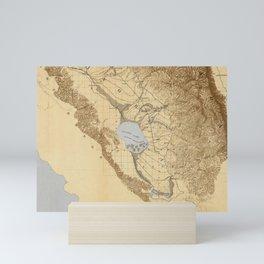 Map of the San Joaquin, Sacramento and Tulare Valleys 1873 Mini Art Print