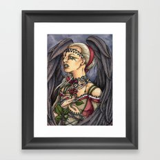 Marooned - Gothic Angel Portrait Framed Art Print