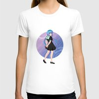 vocaloid T-shirts featuring Aoki Lapis - VOCALOID Gakuen by Tenki Incorporated