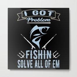 Fishing Fishing Angel Fish Harpoon Metal Print