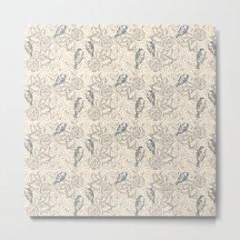 BIRDS AND FLOWERS 84730 Metal Print