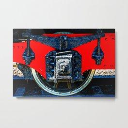Vintage Railway Car Wheel Metal Print