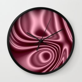 Pink Silk Wall Clock