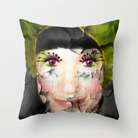 depression Throw Pillows featuring Depression by ADH Graphic Design