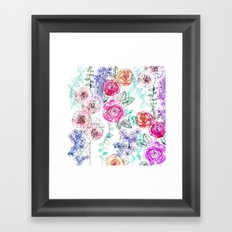 Pastel Rose Garden 02 Framed Art Print