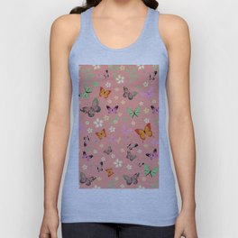 New Watercolour Butterflies V (colorful butterflies) Unisex Tank Top