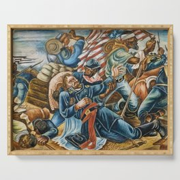 African American Masterpiece 54th Black Reg Sergeant Carney & Death of General Carney by H. Woodruff Serving Tray