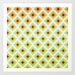 Geometric Heatwave Art Print