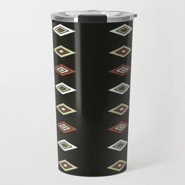 Triple Diamond Pattern Travel Mug