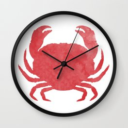 Watercolor Crab Wall Clock