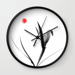 whattheline artworks swan Wall Clock