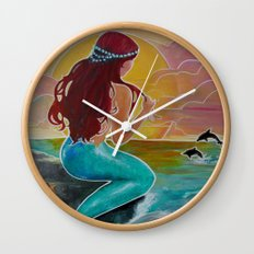 Tropical Tails Wall Clock