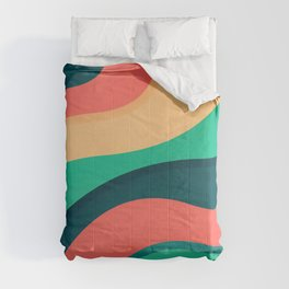 The river, abstract painting Comforters