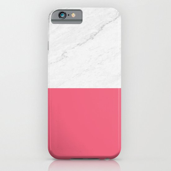 Marble And Pink iPhone & iPod Case