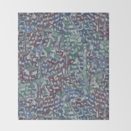 Map Collection: Medieval City Throw Blanket