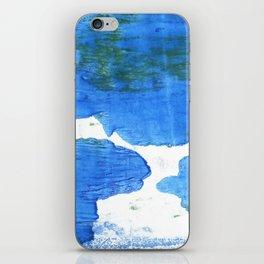 Bleu de France abstract watercolor iPhone Skin