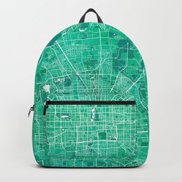 Beijing City Map of China - Watercolor Backpack