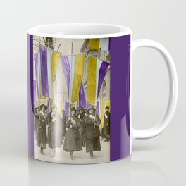 Feb 1917: On their day off, Working Women protest in front of White House for the right to vote Coffee Mug