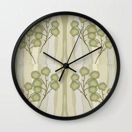 Branch Leaf Wall Clock