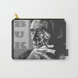 Charles Bukowski -Popart - bw Carry-All Pouch