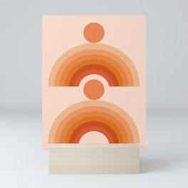 Abstraction_SUN_Rainbow_Minimalism_005 Mini Art Print