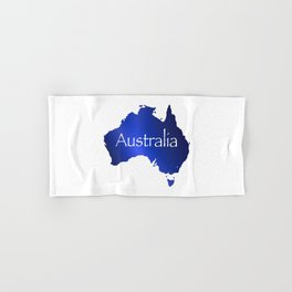 Australia Map Hand & Bath Towel