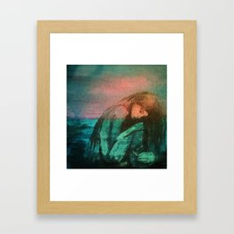 """""""Muse By The Sea"""" Framed Art Print"""