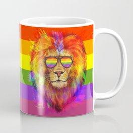 Rainbow Lion Pride Coffee Mug