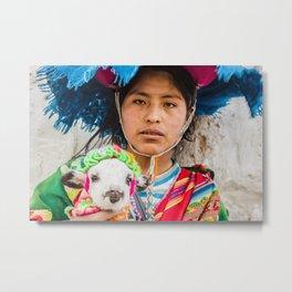 Faces of Peru Metal Print