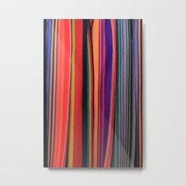 Textile Hammock Stripes Metal Print