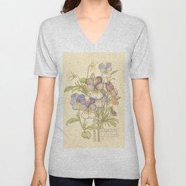 """Charles Rennie Mackintosh """"Flowers & Plants"""" (3) Unisex V-Neck"""