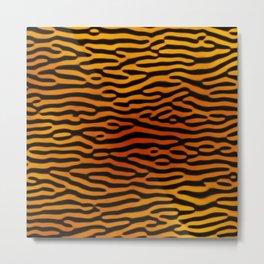 Tiger Print (Tiger King) Metal Print