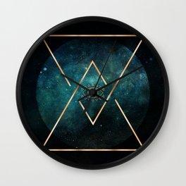 Eye Moon Gold Geometric Tribal Bohemian Mandala Wall Clock
