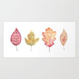 Autumn Leaves   Grace Falls Down Art Print