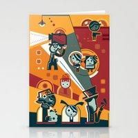 cinema Stationery Cards featuring Cinema by Petra Stefankova