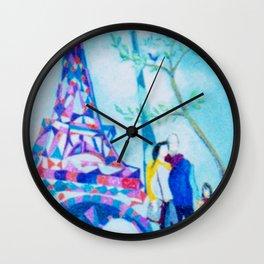 PARIS     by Kay Lipton Wall Clock