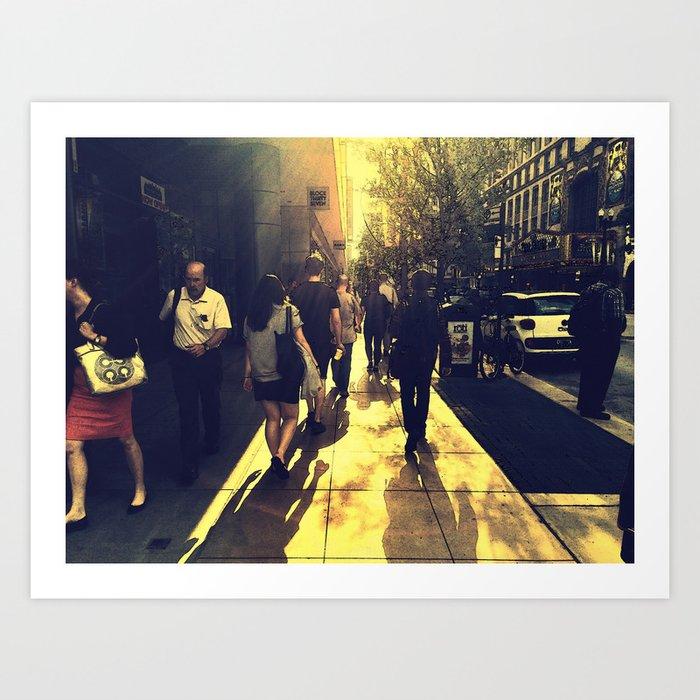 Walking West into the Sun  Art Print