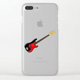 Fretless Bass Guitar Clear iPhone Case