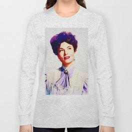 Agnes Moorehead, Vintage Actress Long Sleeve T-shirt